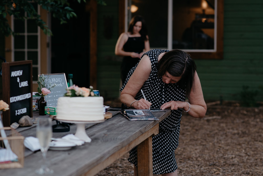 Polaroid guest book inspiration. Boulder, Colorado wedding photographer. Denver wedding photographer.