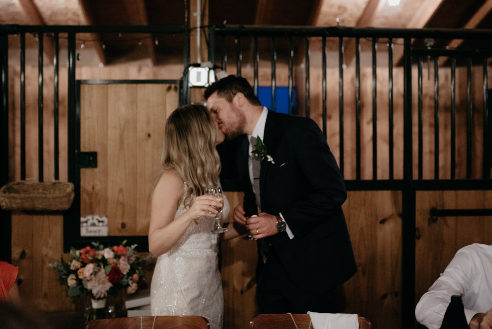 Speeches at a Three Leaf Farm Boulder wedding. Boulder, Colorado rustic wedding venue. Colorado elopement and wedding photographer.