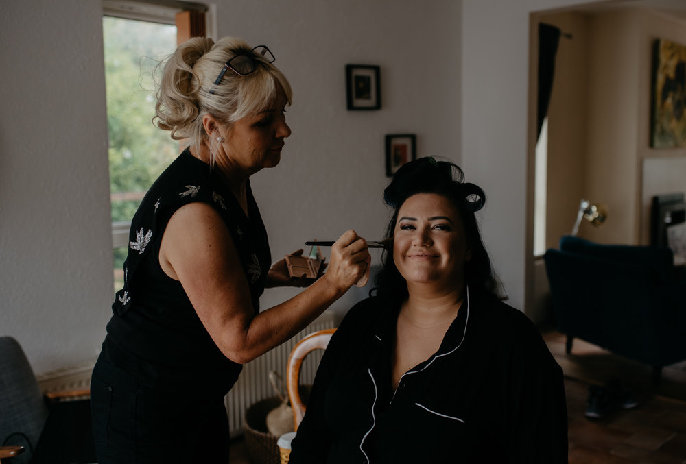 Getting ready photos by Ireland wedding and elopement photographer. Intimate destination wedding at Newtown Castle in County Clare, Ireland.
