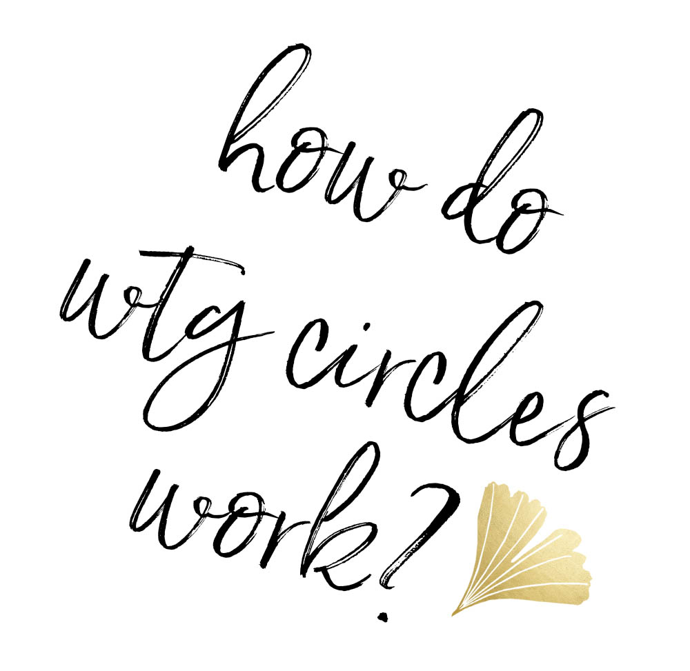 - WTG Circles remind us that we're all different, but so much the same. Writing together helps you see yourself in others and experience a rich connection that science shows is vital for well-being. In each themed circle you'll: