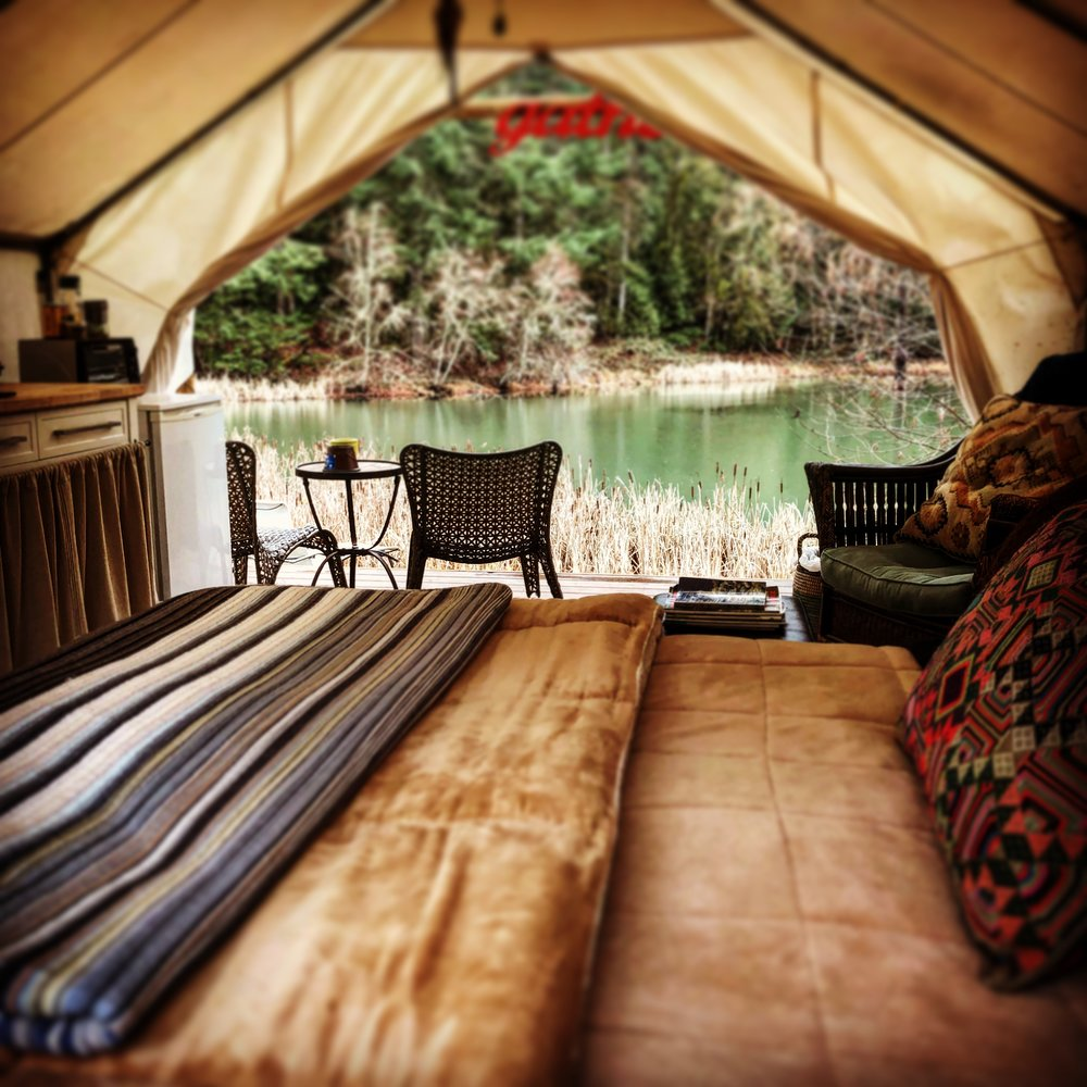 "Glamping Tent  ""How beautiful the settings — inside and out!!"" ~Lynda, Summer GLOW 2018"