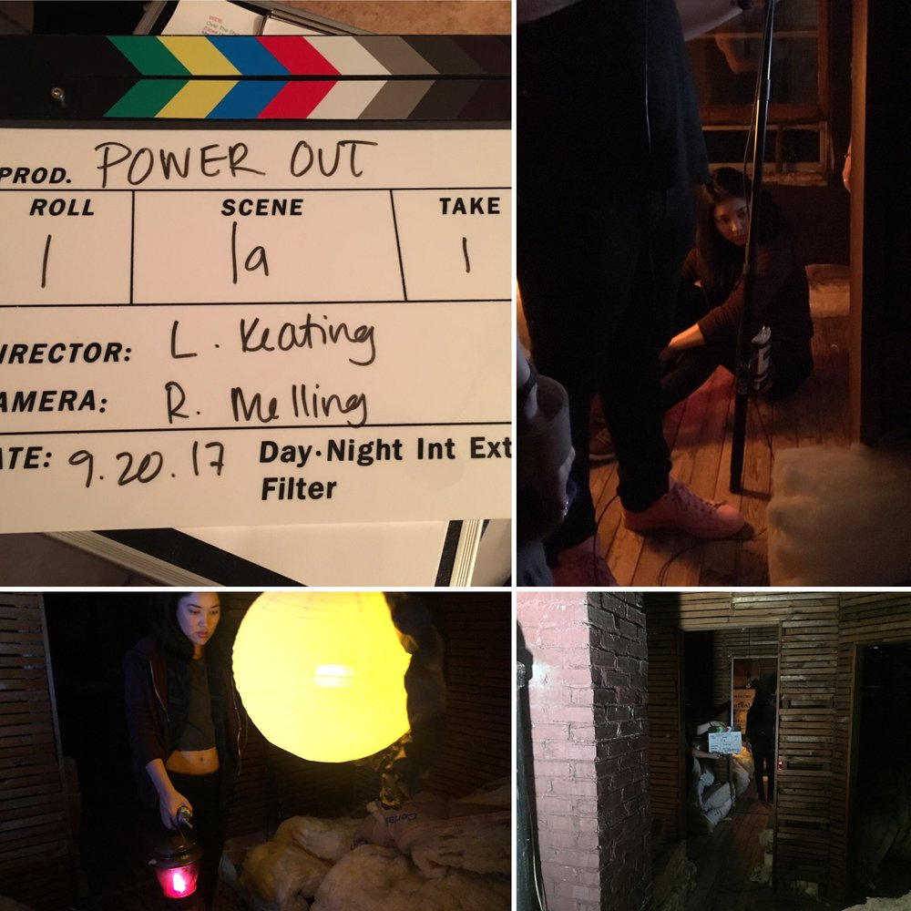 - Last summer, I wrote a short screenplay called Power Out. The script is a semi-finalist in the 13th Annual American Gem Literary Festival (top 7%) and a quarter-finalist in the 2017 ScreenCraft Short Screenplay Contest (top 25%) and the 2018 Richmond International Film Festival (top 25%).This 8-page thriller is about a teen girl trapped in an isolated country house during a power outage, desperate to charge her phone. When she connects with a mysterious voice on her walkie-talkie, she must learn to see outside herself to help a young girl and uncover a dark family secret.Lauren Keating directed this short film and it is currently in post-production.I just finished a new short screenplay called Running From, Running To. The script won first place in the February 2018 Sunday Shorts Film Festival in London. This 11-page drama is about a young woman who must confront a powerful man from her past before she can commit to her girlfriend.
