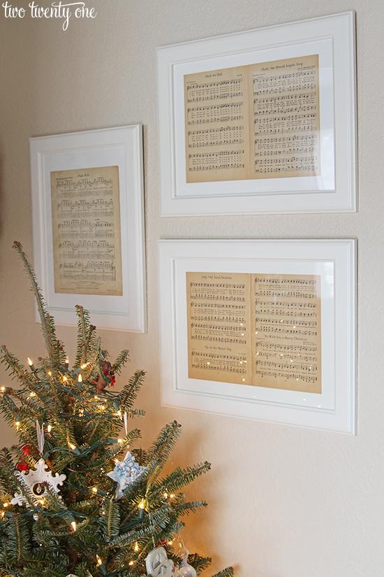 Christmas framed sheet music.jpg