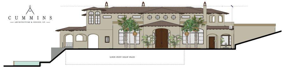 3D Custom Home Rendering Glendora Hills