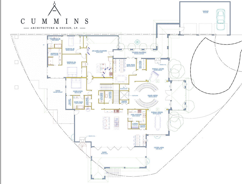 Architectural Drawings for a Custom Home