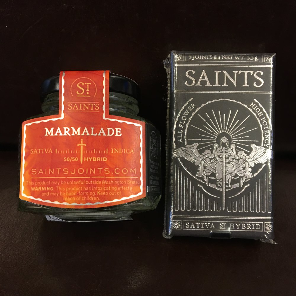 Saints Marmalade weed pre rolls and cannabis flower