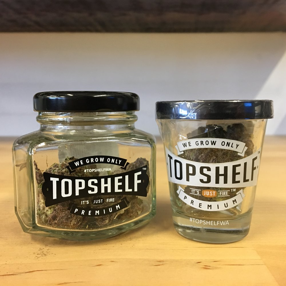 Top Shelf Oregon Diesel cannabis Flower weed pairing with tequila