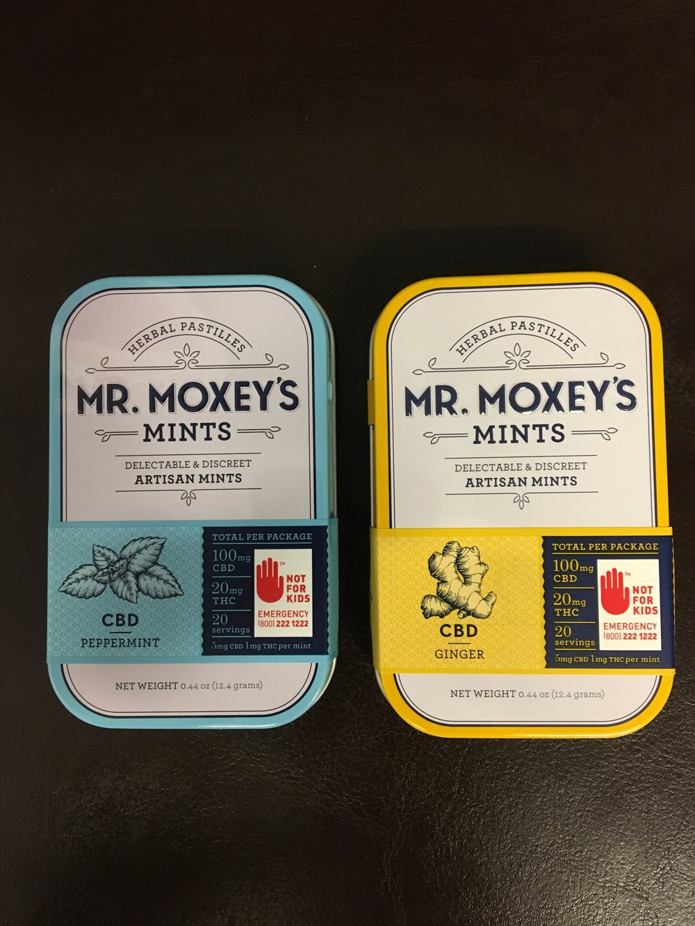 Mr. Moxey's mints ginger peppermint weed exercise cbd cannabis pot