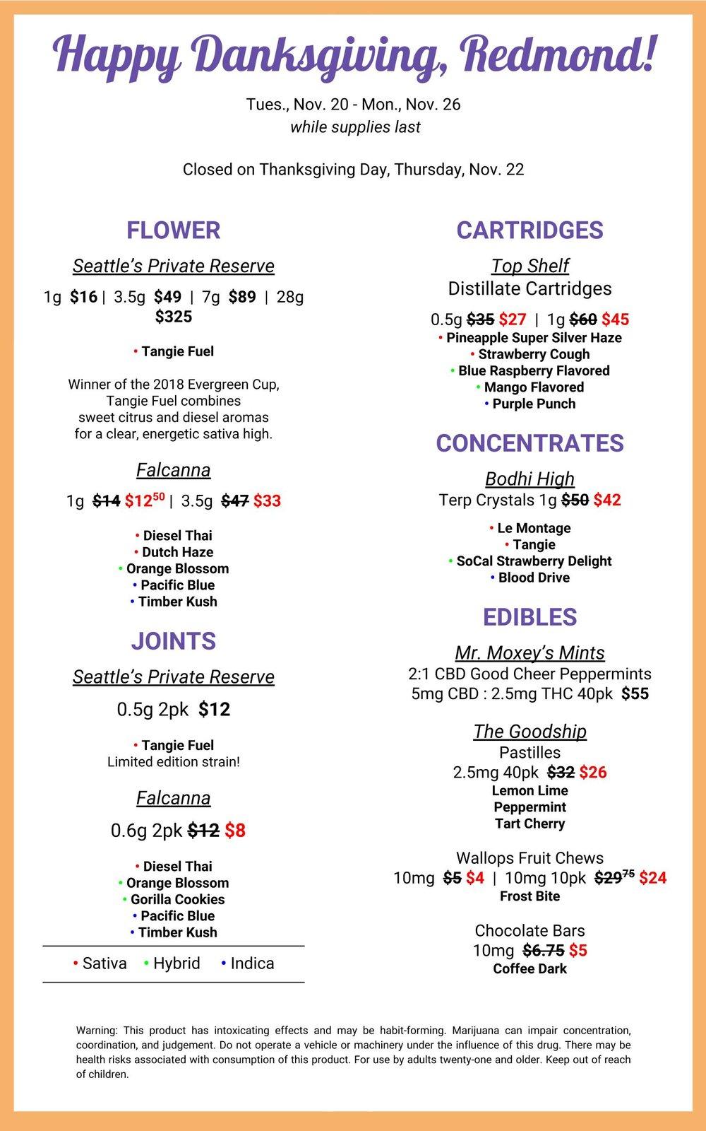 Redmond Happy Danksgiving sale menu.jpg