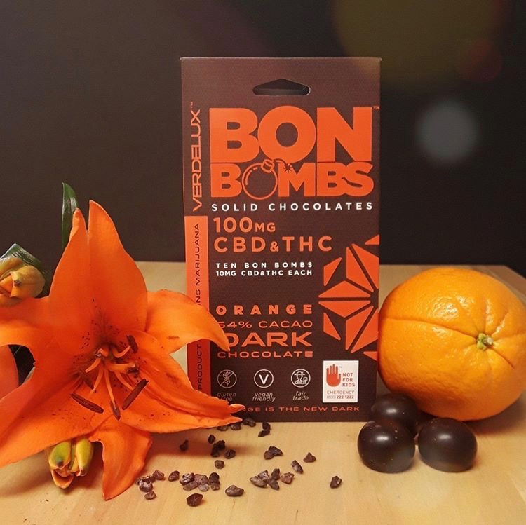 Verdelux dark chocolate orange 10pk ($42) - If only everyone's favorite holiday chocolate orange confections also got us high … Verdelux is making our sweetest dreams come true, with 10mg CBD and 10mg THC in each dark chocolate infused with delicious orange.