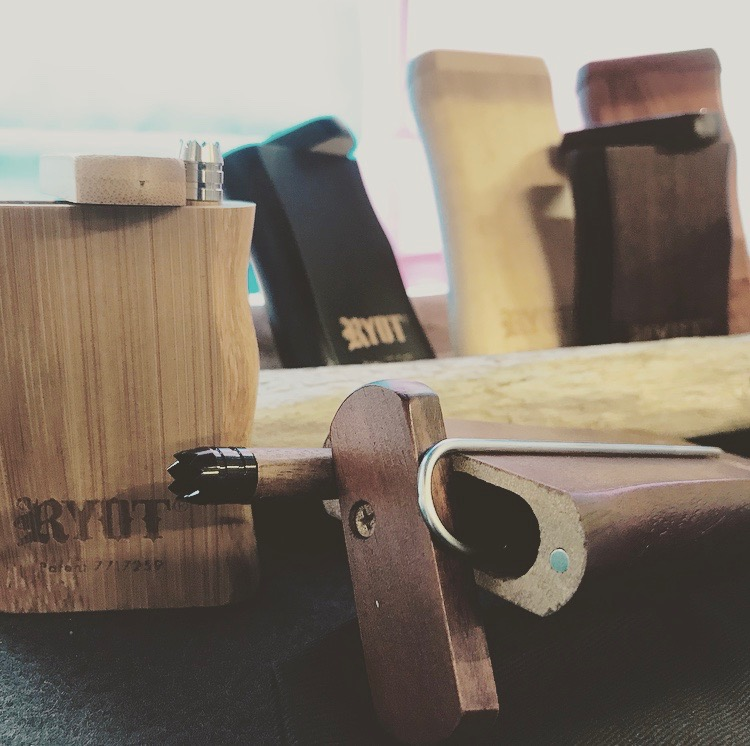 Large wooden dugout ($28) - The convenience and portability of the classic dugout cannot be beat! In multiple shades of natural hardwoods, our dugouts include a one-hitter, a poker to clear it of any clogs, and a stash spot for your ground flower. The magnetic closure keeps it tidy!
