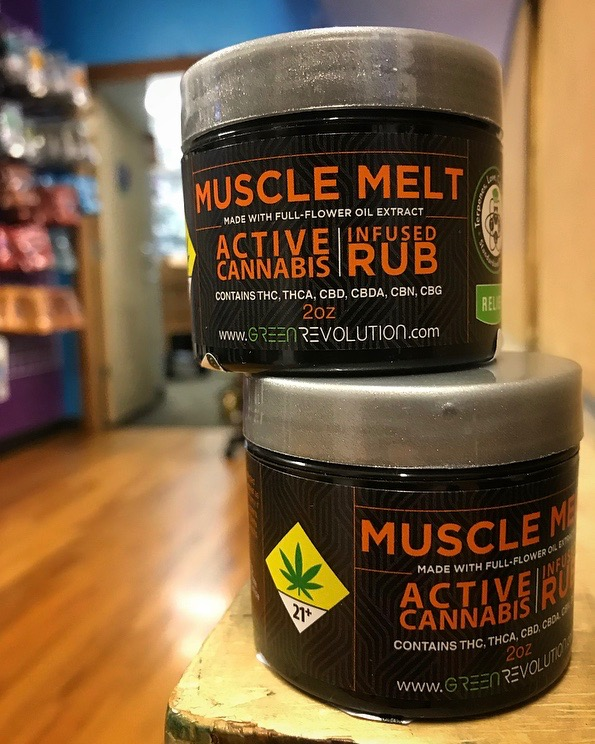 Green Revolution Muscle Melt infused rub ($25) - This infused topical includes capsaicin to warm up the part of the body where it's applied, increasing blood flow to that specific area and boosting muscle recovery. Great for the athletes in your life!