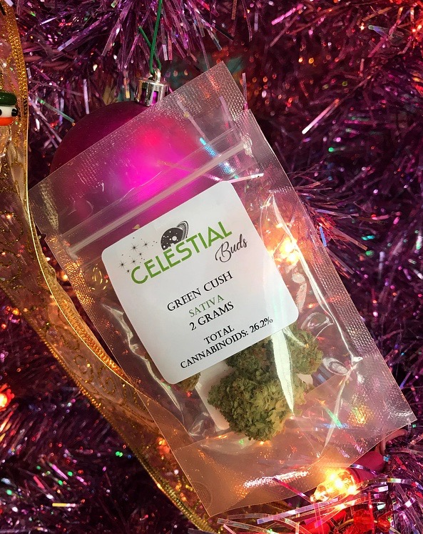 Declutter your space with Green Cush. - Known for its invigorating energetic effects and mental buzz, Green Cush by Celestial Buds is an ideal companion for a focused clean up of your space, no matter how big the mess!