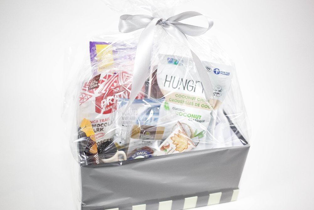 Mother's Day Gift.Box - Do you have an awesome friend? Or know an awesome friend? (We bet you do!) Nothing says BBF! like one of our gift boxes!! Lots of yummy vegan treats to share with your bestie.$50.00**Items may vary from display picture.