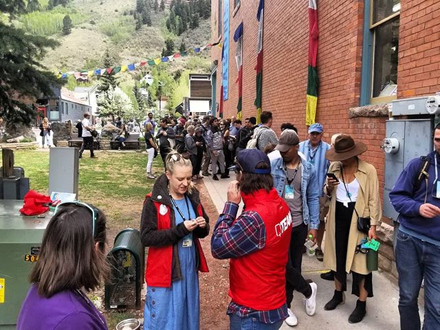 Always nice to see the line go around the block! Thanks Telluride for being such amazing lovers of films!!! Epic week at @mountainfilm  #africa #film #documentary #liberia #womeninfilm @leonardodicaprio #appianway