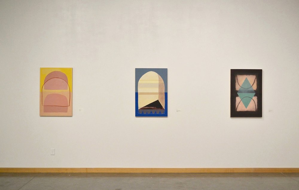 Dwelling: Paintings by Peter Ligon and Layla Luna (installation view)