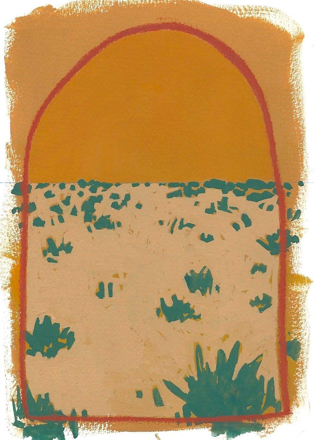 #03 Mini Desert Painting: Bumblebees