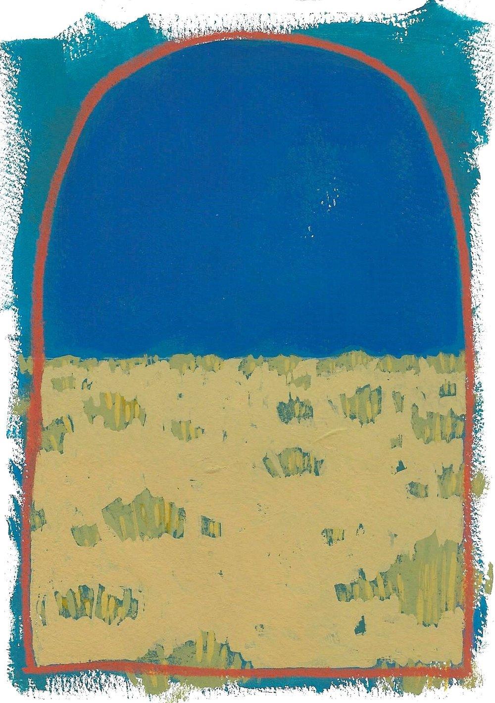 #01 Mini Desert Painting: Crescent Moon
