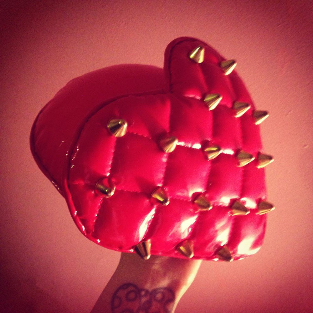 2012 Quilted Vinyl and Spiked Heart Hat collaboration for Daughters of Devotion