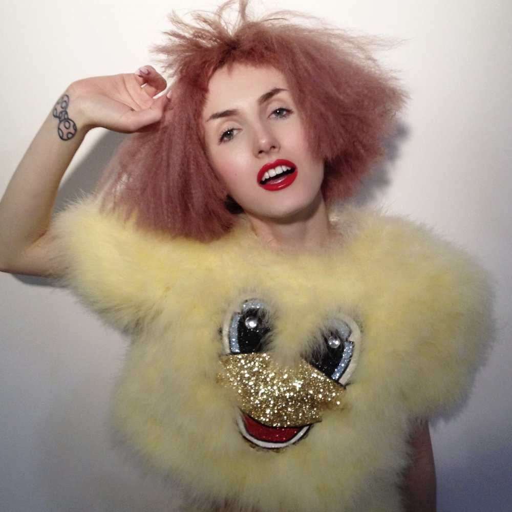 2014 Doll Eyes collaboration with Elena Kanagy-Loux Marabou Chick Crop Top