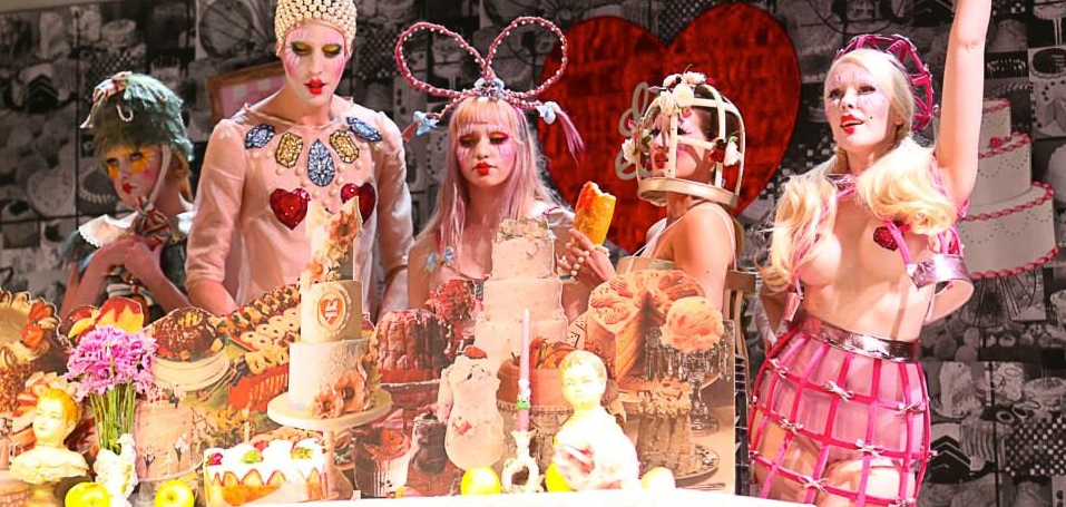 2014 Doll Eyes collaboration with Elena Kanagy-Loux Les Filles Goulous Fashion Presentation