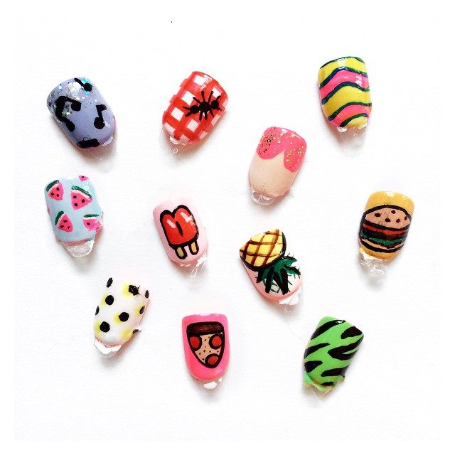2015 Handpainted Nail Art Designs