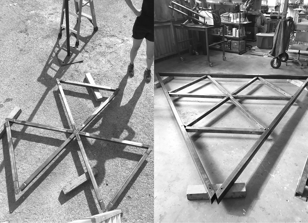 steel frame layout