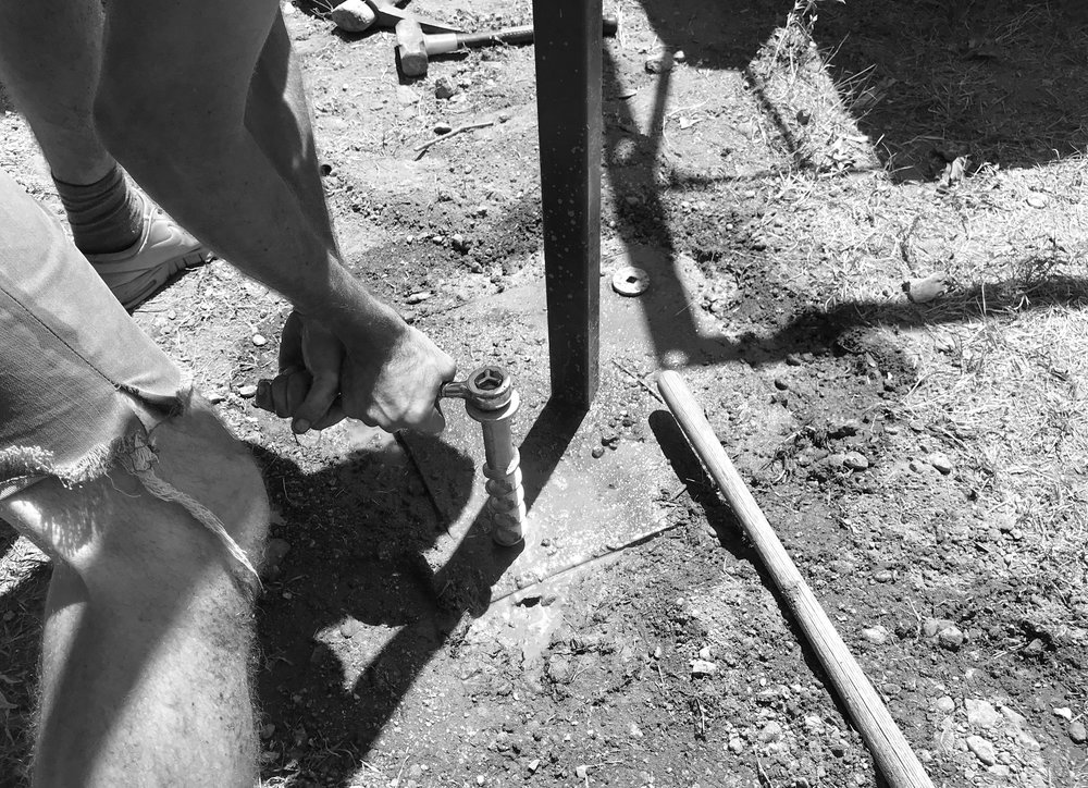 installing the earth anchors