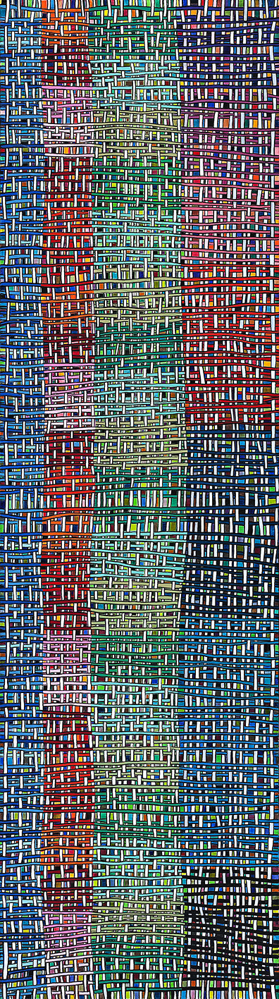 Tall Slim Weave Oil on Canvas 200cm x 56cm