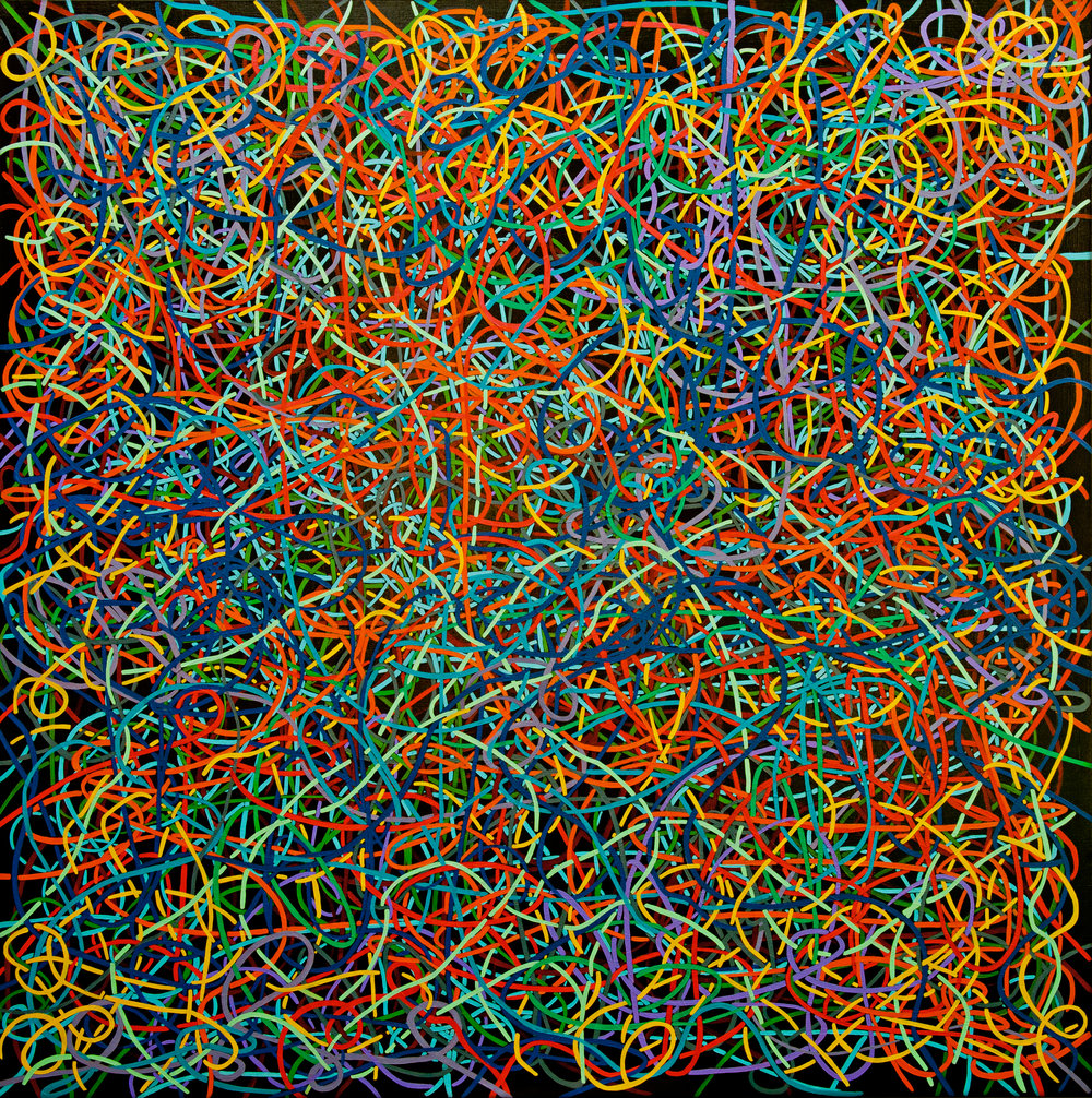 Tangled Threads Oil on Canvas 150cm x 150cm