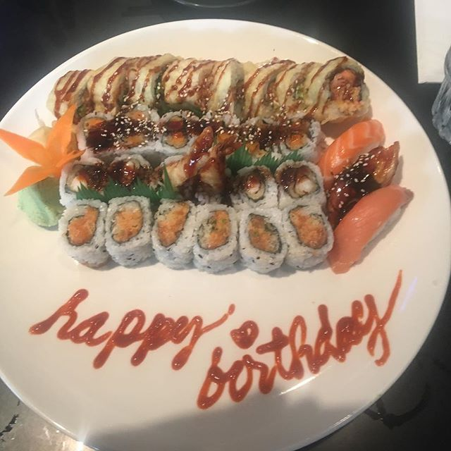 I feel loved! Thanks Nathan Davies! #sushi #birthday #friends #yum
