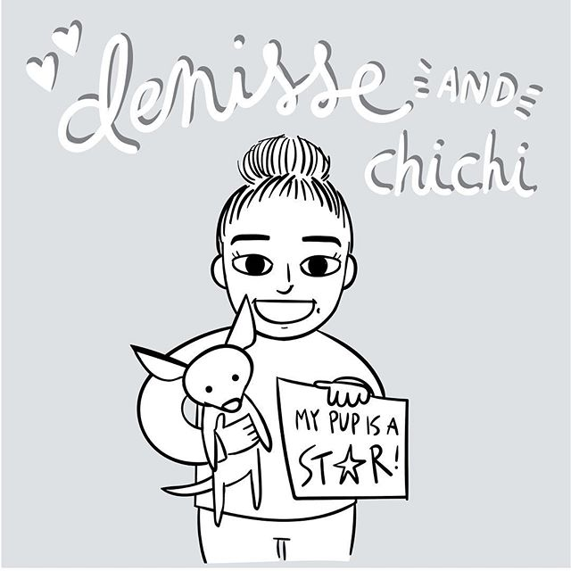 Donate to the link in my bio by noon tomorrow and I will draw you! My cousin volunteers at the oc women's prison every week and teaches inmates how to train shelter dogs so they can become service dogs! It's such an amazing program, please donate or share! Drawing #1 is of @denisse__ojeda and her adorable little chihuahua, chichi! #celldogs #nonprofit #donate #charity