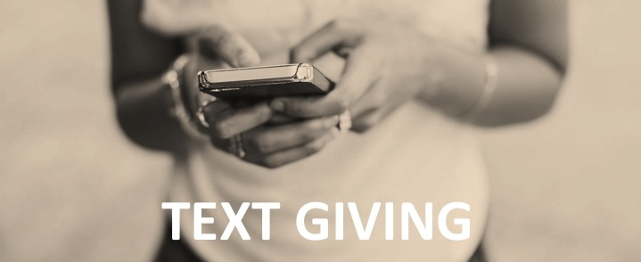 text to give is the most simple and convenient way to give from anywhere through your mobile device.