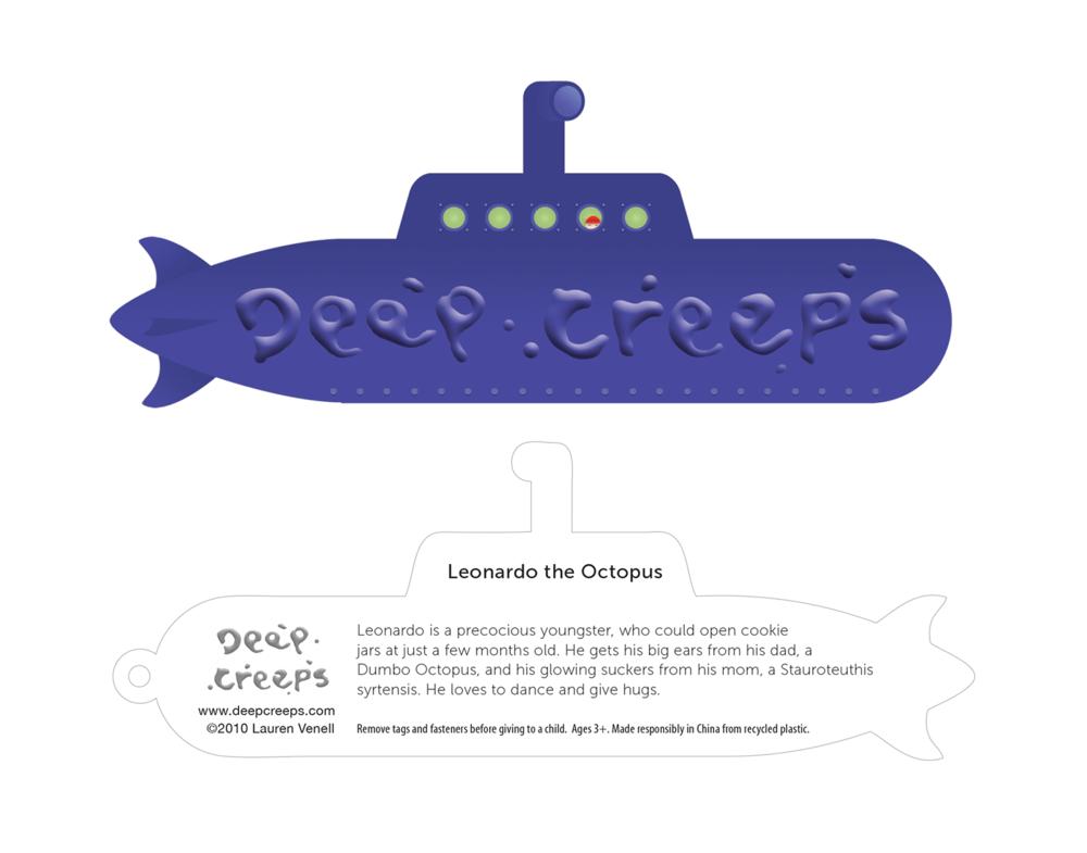 Deep Creeps hangtag - Apporx. 5 1/2