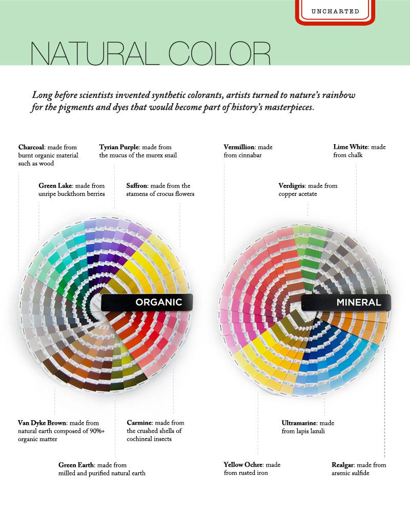 Pigments Infographic - Pantone color books. Unpublished (2014)