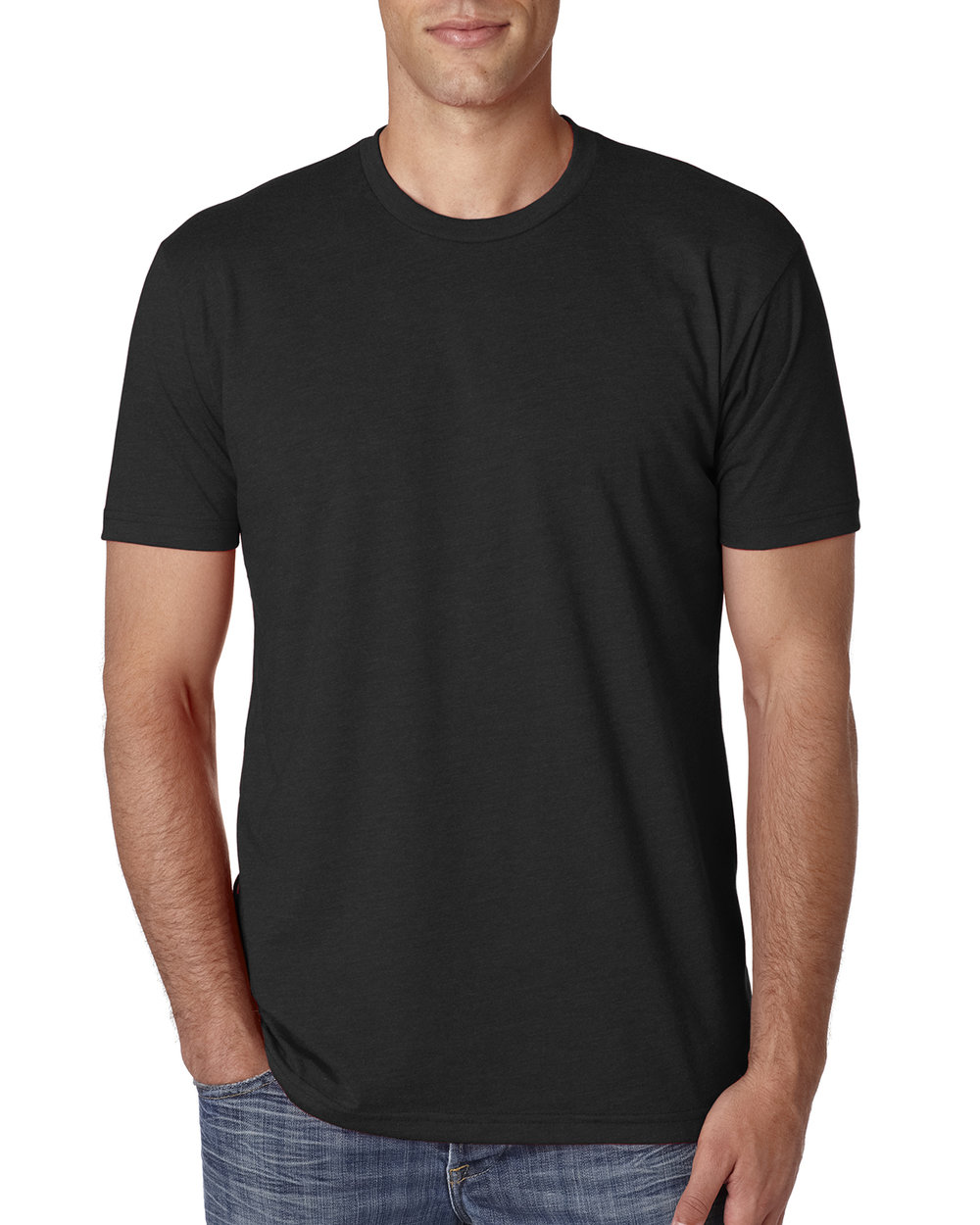 Next Level n6210 - The n6210 by Next Level is an affordable premium t-shirt with a modern fit, and extremely soft fabric blend. It's 60 % combed ringspun cotton & 40% polyester jersey, so shrinkage isn't as significant as with at 100% cotton shirt. The colors are slightly heathered, giving them a softer vintage look. They also feature tearaway labels in the neck, so removing them for tag printing is an option.  Try putting your design on one, check out all of the colors available, or get an easy online quote here.