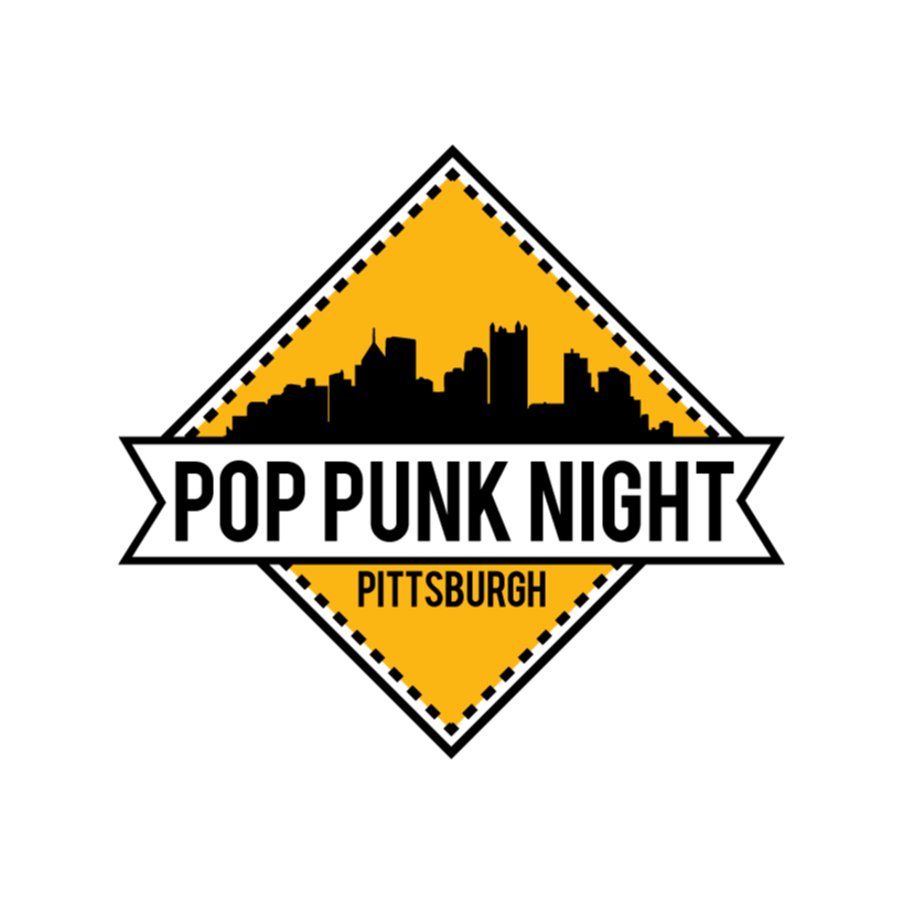 2 Color Logo Design For Pop Punk Night