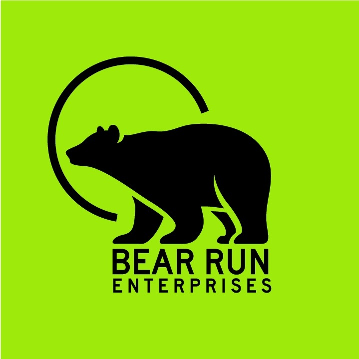 1 Color Logo Design for Bear Run Enterprises