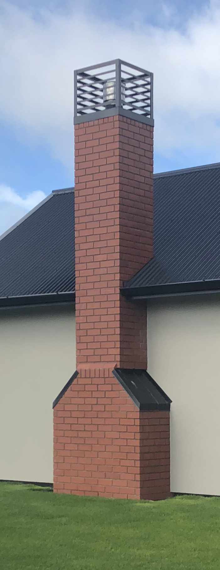 Style 2.  Is the gather type where the base is wider than the chimney stack. These are seen very often on heritage style homes.