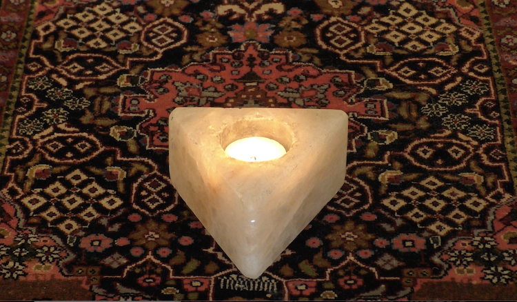 Candle & Persian Rug