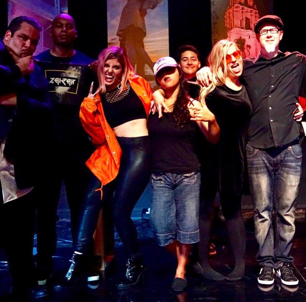 "Zairah with The Mondaze, best friend Matthew Addison, and the ""Tonight in San Diego"" crew"