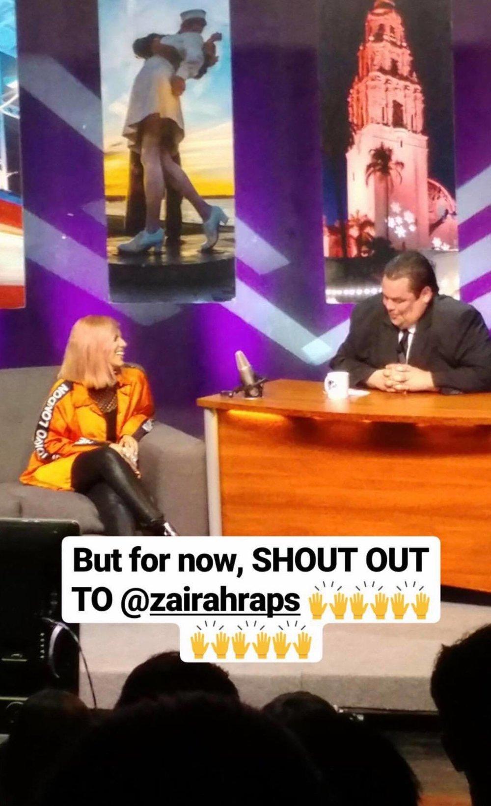 Snap shoutout from a fan of Zairah