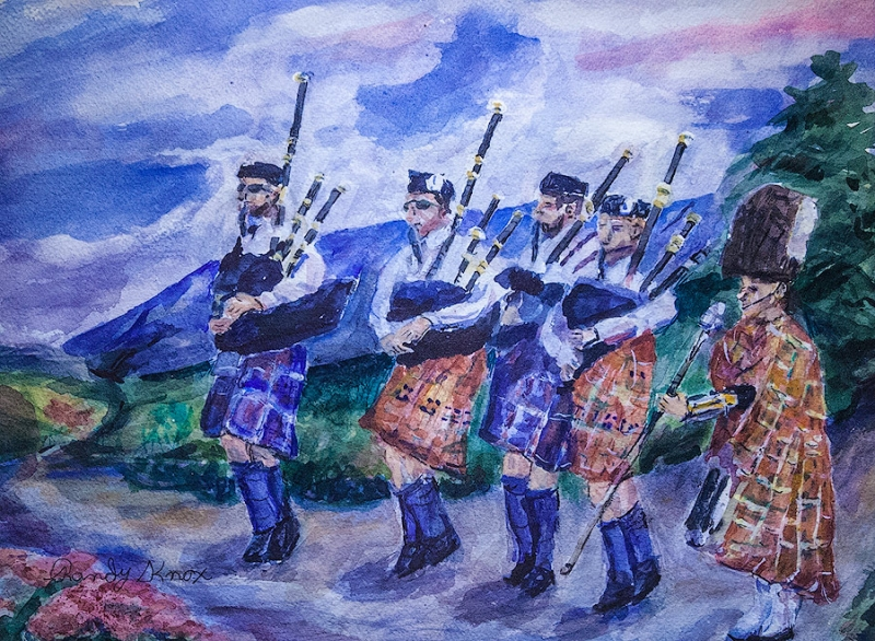 The Pipers by Randy Knox | $190