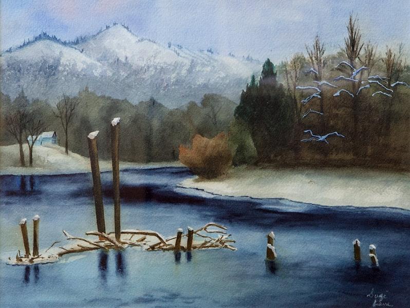 Blackbird Island Winter by Suzi Lane | $300