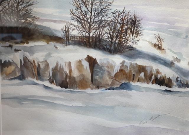 Winter's Calm by Terri Meenach (Watercolor) | $175