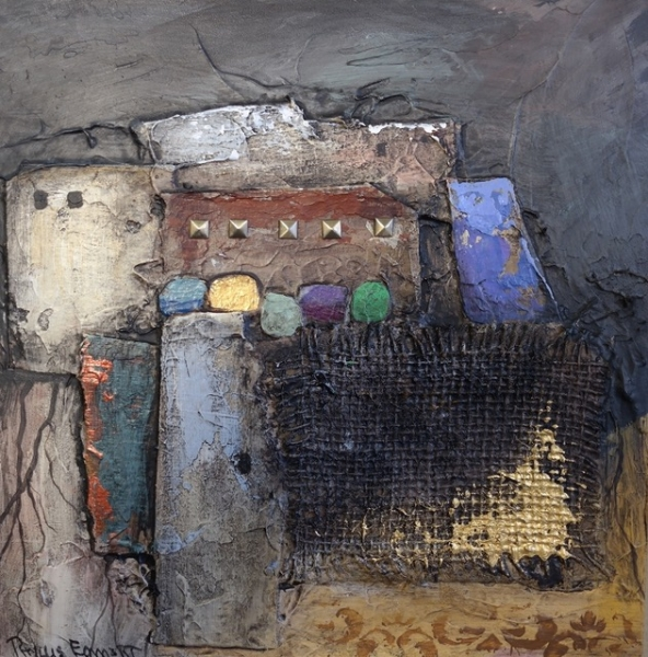 Cliff of Welding by Phyllis Emmert (Mixed Media) | $110