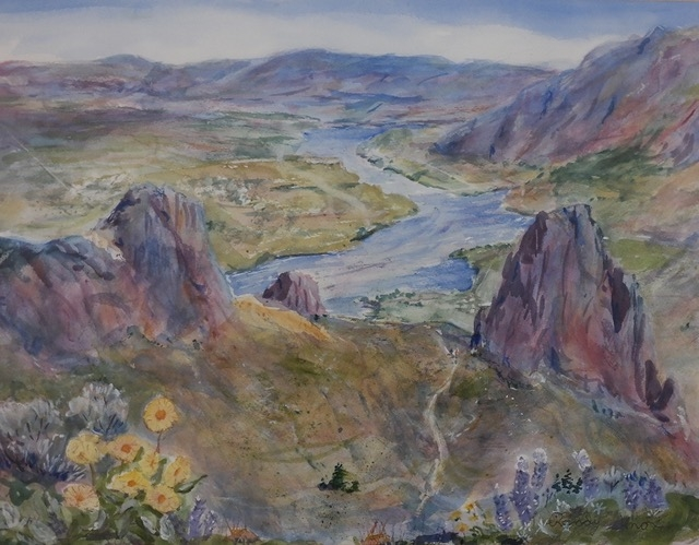 Spring - Saddle Rock by Randy Knox (Watercolor) | $150