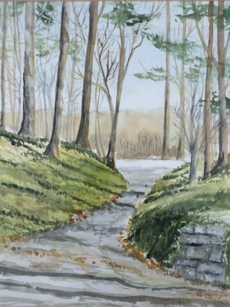 Spring Path by Dave Kocher (Watercolor) | $150