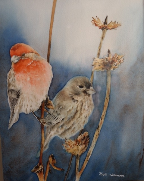 Feathered Friends by Nicki Isaacson (Watercolor) | $375