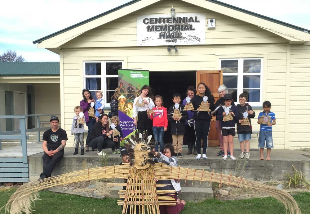 Whanau and friends at a recent workshop at Waihao Marae.